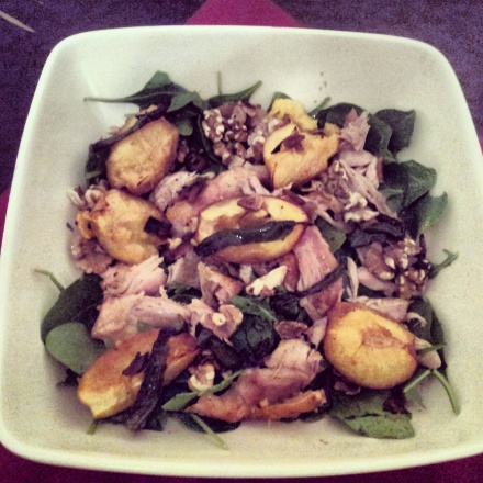 Winter Chicken Salad with Plums & Soy